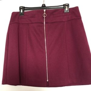 Candies cranberry skirt size large